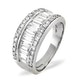 18K White Gold Diamond Ring 1.50ct H/si - image 2