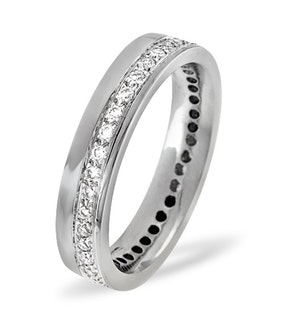 Mens 0.38ct H/Si Diamond 18K White Gold Dress Ring