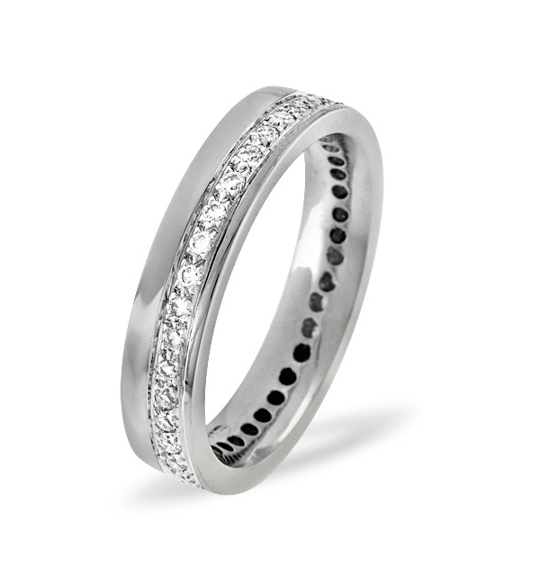Mens 0.38ct G/Vs Diamond 18K White Gold Dress Ring - image 1