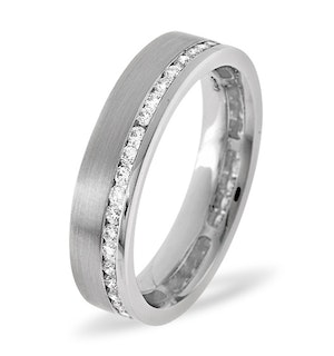 Mens 0.54ct H/Si Diamond 18K White Gold Dress Ring