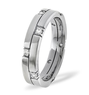 Ellie Platinum Diamond Wedding Ring 0.22CT G/VS