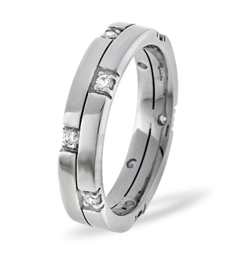 Ellie 18K White Gold Diamond Wedding Ring 0.22CT G/VS - image 1