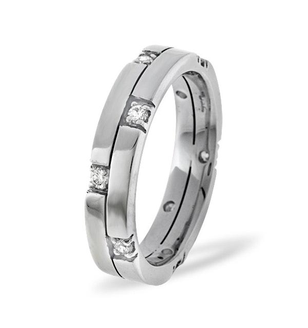 Ellie 18K White Gold Diamond Wedding Ring 0.22CT H/SI - image 1
