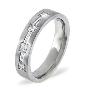 Mens 0.49ct G/Vs Diamond 18K White Gold Dress Ring