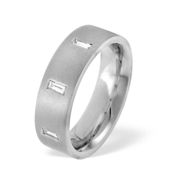 Mens 0.17ct G/Vs Diamond Platinum Dress Ring - image 1