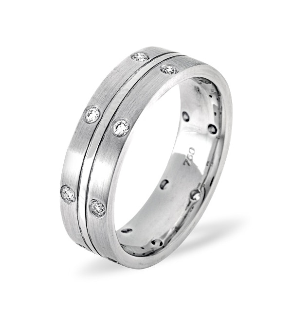 Lucy 18K White Gold Diamond Wedding Ring 0.21CT G/VS - image 1