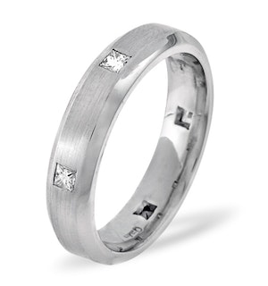 Mens 0.28ct G/Vs Diamond 18K White Gold Dress Ring
