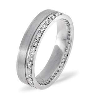 Mens 0.27ct H/Si Diamond 18K White Gold Dress Ring