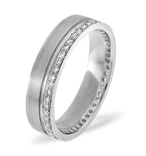 Mens 0.27ct G/Vs Diamond 18K White Gold Dress Ring