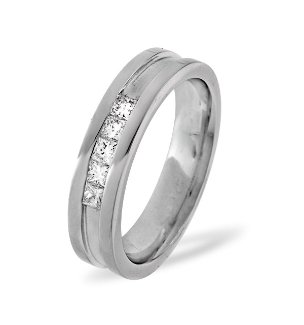 Mens 0.22ct G/Vs Diamond 18K White Gold Dress Ring  IYD29-44XUY - image 1