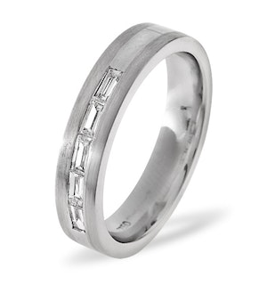 Mens 0.22ct H/Si Diamond 18K White Gold Dress Ring