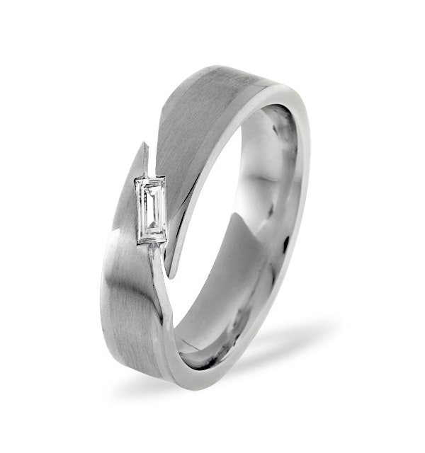 Jasmine 18K White Gold Diamond Wedding Ring 0.07CT G/VS - image 1