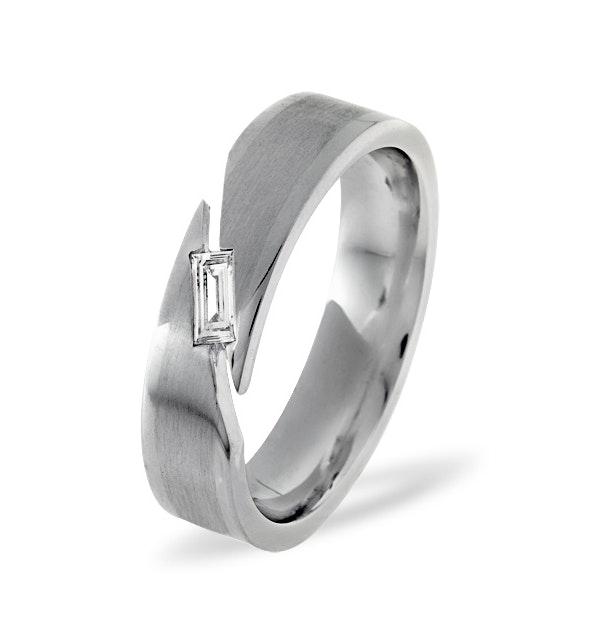 Mens 0.07ct G/Vs Diamond Platinum Dress Ring  IYD45-9XUS - image 1
