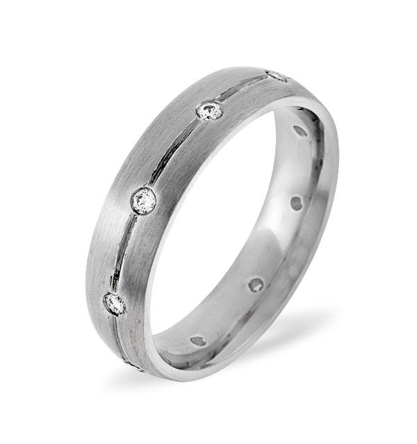 Grace 18K White Gold Diamond Wedding Ring 0.14CT H/SI - image 1
