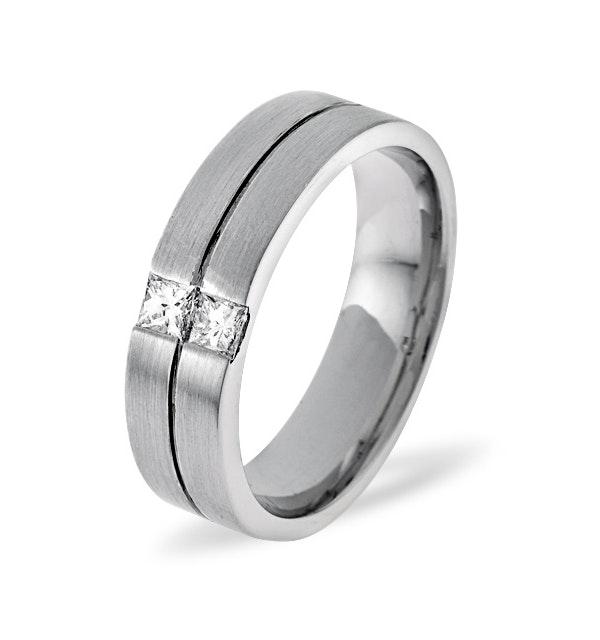 Olivia 18K White Gold Diamond Wedding Ring 0.16CT G/VS - image 1