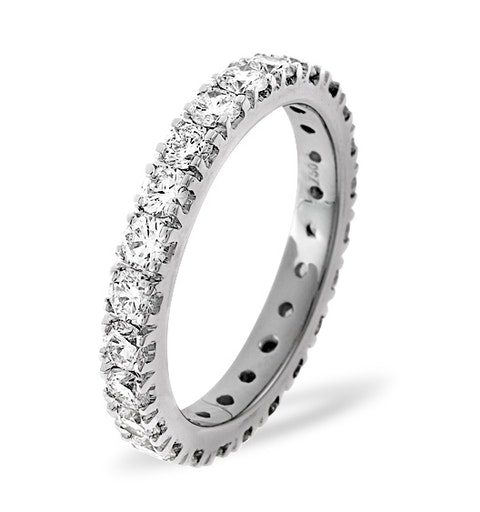 Eternity Ring Poppy 18K White Gold Diamond 2.00ct H/Si - image 1