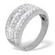 Platinum Wide Ring 1 Carat Diamond H/Si - image 3