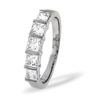 Lauren Platinum 5 Stone Diamond Eternity Ring 1.00CT G/VS