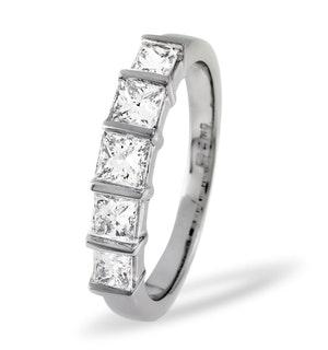 Lauren 18K White Gold 5 Stone Diamond Eternity Ring 0.50CT G/VS