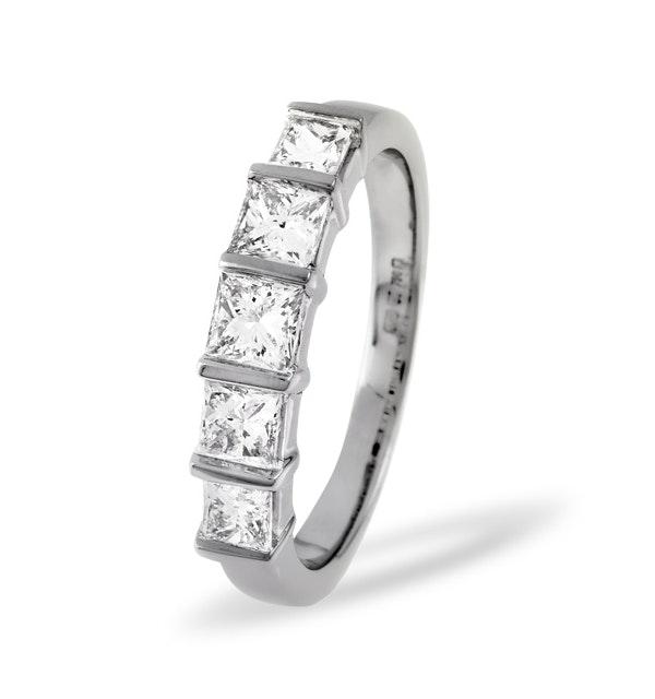 Lauren 18K White Gold 5 Stone Diamond Eternity Ring 0.50CT G/VS - image 1