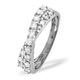 Diamond 0.50CT 18K White Gold Cross-Over Ring - image 2