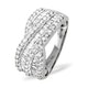 Diamond 1.00CT 18K White Gold Cross-Over Ring - image 2