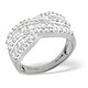 Diamond 1.00CT 18K White Gold Cross-Over Ring - image 3