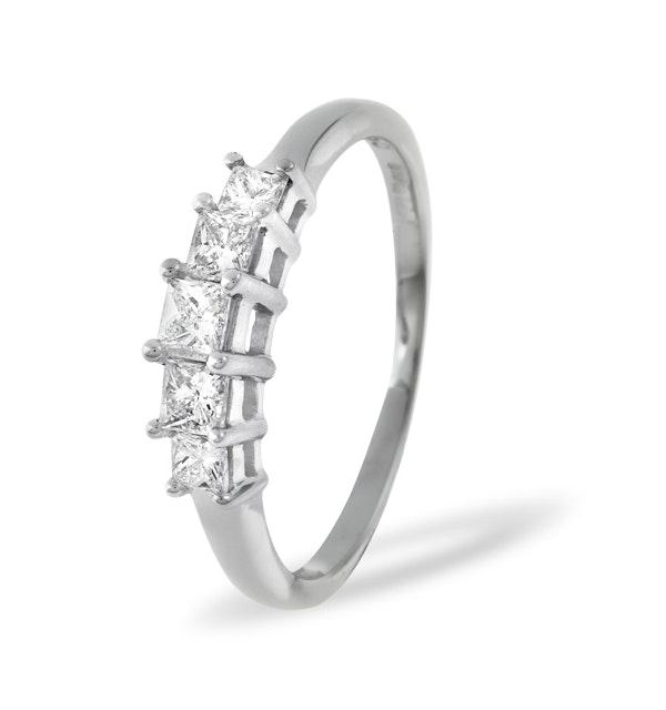 Lucy 18K White Gold 5 Stone Princess Diamond Eternity Ring 0.25CT H/SI - image 1