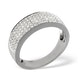 18K White Gold Diamond Pave Ring 0.45ct H/si - image 3