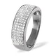 18K White Gold Diamond Pave Ring 0.45ct H/si - image 1