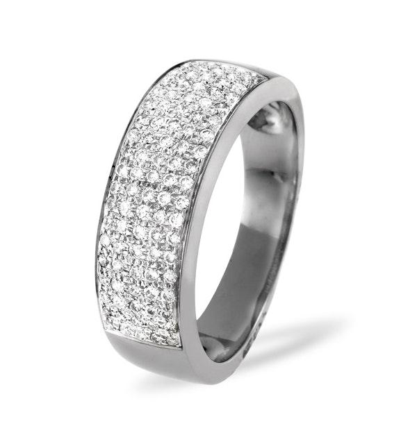 18K White Gold Diamond Pave Ring 0.45ct H/si - image 1