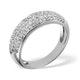 18K White Gold Diamond Pave Ring 0.64ct H/si - image 2