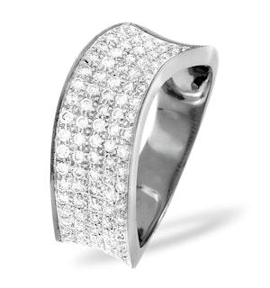 18K White Gold Diamond Pave Ring 0.63ct H/si
