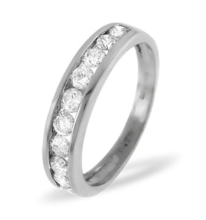 18K White Gold Rae Half Eternity Ring 0.15CT H/SI