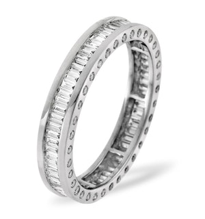 Mens 2ct H/Si Diamond 18K White Gold Full Band Ring  IHG28-422JUY