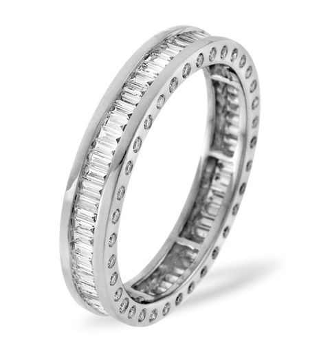 Mens 2ct H/Si Diamond Platinum Full Band Ring  IHG28-422JUS - image 1