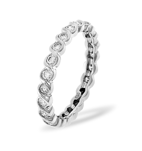 Eternity Ring Kiera 18K White Gold Diamond 1.00ct H/Si - image 1