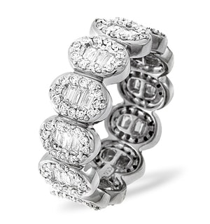Eternity Ring Sophie Platinum Diamond 1.50ct H/Si