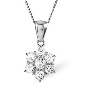 1.00ct G/vs Diamond and Platinum Pendant - FR27-322XUS
