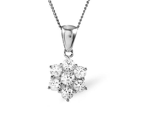 Platinum Cluster Pendants And Necklaces