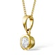 Emily 18K Gold Diamond Pendant 0.25CT H/SI - image 2