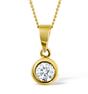 Certified Diamond 1.00CT Emily 18K Gold Pendant G/SI1