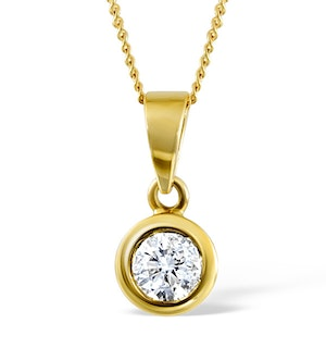 Emily 18K Gold Diamond Pendant 0.25CT H/SI