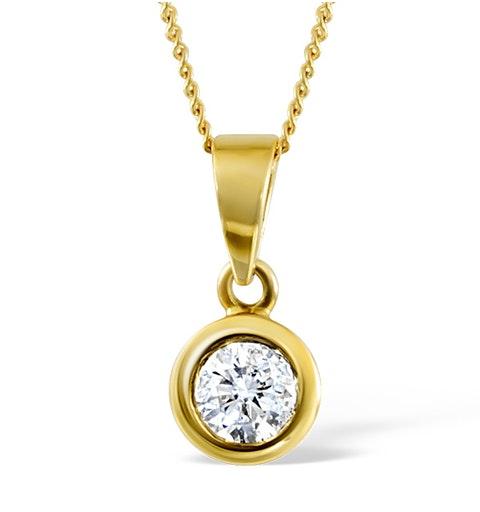 Certified Diamond 0.70CT Emily 18K Gold Pendant G/SI1 - image 1