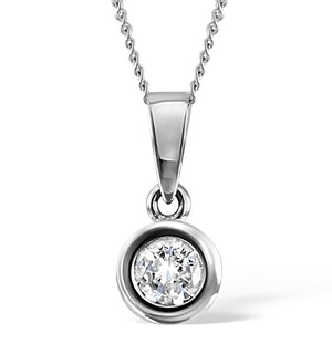 Certified Diamond 0.90CT Emily Platinum Pendant Necklace G/SI1
