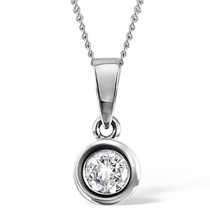 Certified Diamond 0.90CT Emily 18K White Gold Pendant Necklace G/SI1