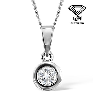 0.50ct Diamond and 18K White Gold Pendant Necklace - FR24-72RMY