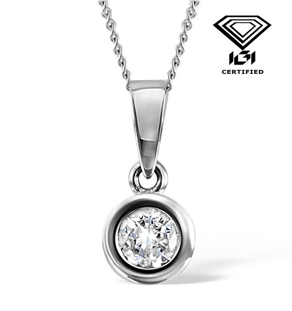 0.50ct Diamond and 18K White Gold Pendant Necklace - FR24-72RMY - image 1