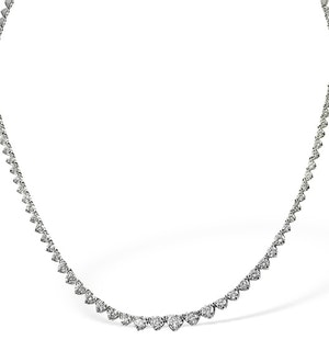 Diamond Necklace 18K White Gold 3.00ct G/Vs