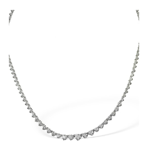 Diamond Necklace 18K White Gold 3.00ct H/Si - image 1